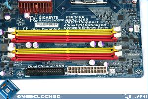 Gigabyte EP-45-DS3 Memory Slots