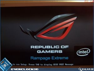 ASUS Rampage Extreme splash screen