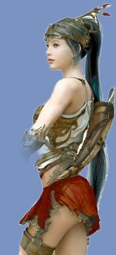 ASUS Lass with wierd things in her hair