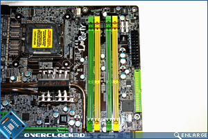 DFI X48-T3RS Socket & ram