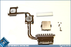 DFI X48-T3RS Heatsink assembly
