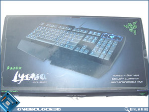 RAZER Lycosa front of box