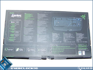 RAZER Lycosa rear of box