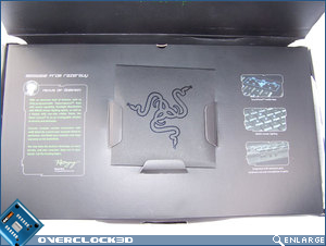 Inside box showing install CD