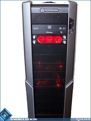 Thermaltake Spedo Advanced front with power on