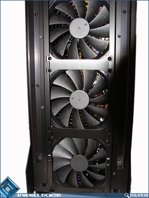 X2000 140mm Front Fans Close Up