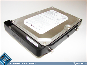 X2000 Hard Drive fitted with rail