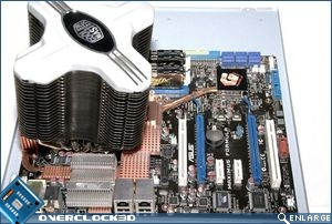 Components installed on motherboard tray