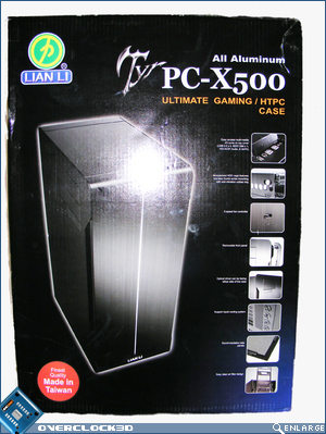 X500 Packaging box front