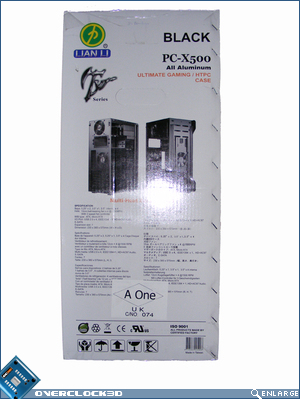 X500 Packaging box side