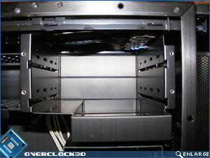 X500 Optical Drive Bays with cover removed