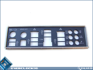 ASUS P6T Deluxe Padded I/O Plate
