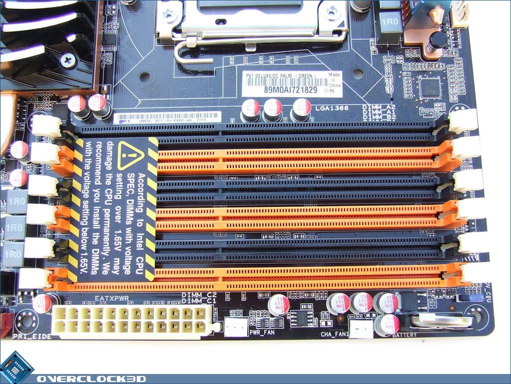 Asus p6t se memory slots