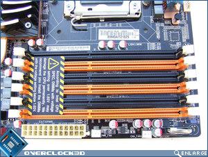 ASUS P6T Deluxe Memory Slots