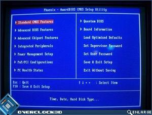 Quantum BIOS main page