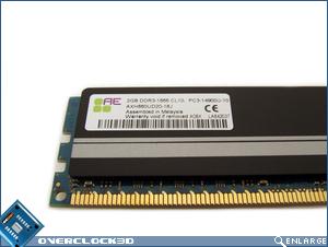 Aeneon Xtune DDR3-1866 Specs Sticker
