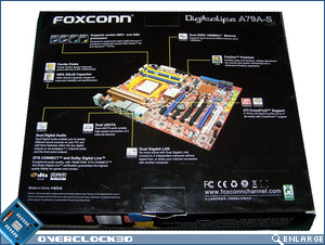 Foxconn A79A-S packaging rear