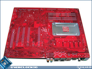 rear of Foxconn A79A-S motherboard showing backplate