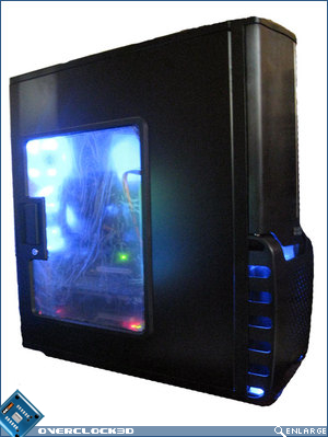 Gigabyte 3D Aurora powered on