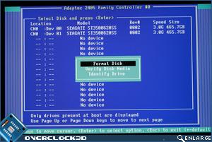 Adaptec RAID 2405 BIOS