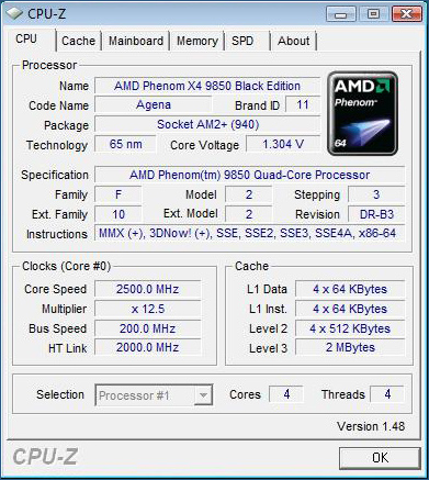 AMD Phenom @ stock