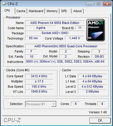AMD Phenom overclocked