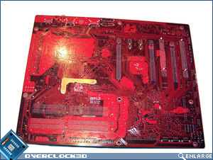 Foxconn ELA rear of motherboard