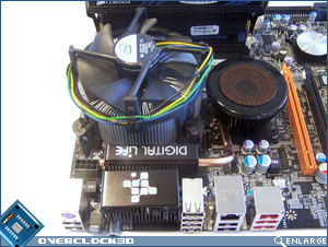 CPU socket area showing available room for heatsinks