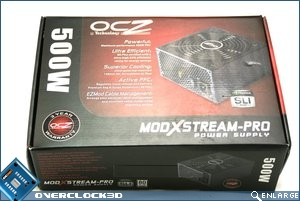 OCZ ModXStream 500w Packaging