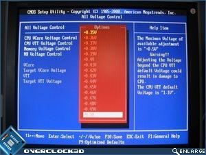 CPU VTT voltage options