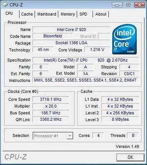 Core i7 920 overclock