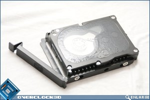 CoolerMaster Sniper Hard drive mounted
