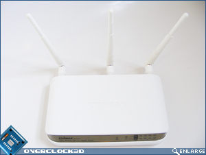 Edimax BR-6574n - With antennas fitted
