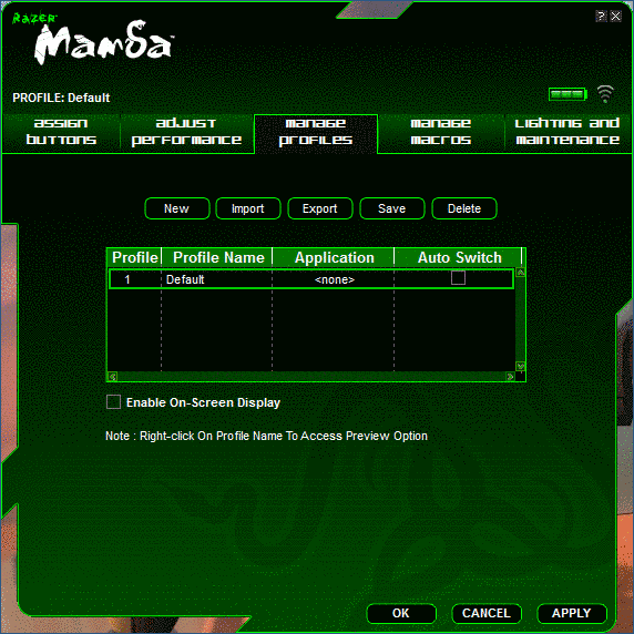 Razer Mamba Software