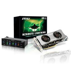 The military-class N260GTX Lightning graphics card from MSI