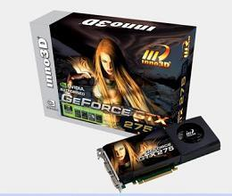 The new GeForce GTX 275 from Inno3D with 1,792MB on-board memory
