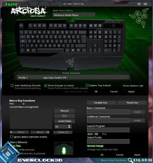Razer Arctosa Device software