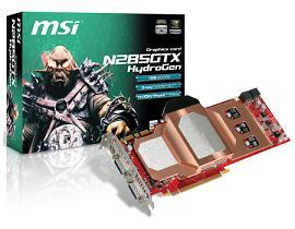 The new N285GTX Hydrogen OC from MSI features water-cooling
