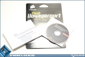 Corsair Flash Voyager Port packaging contents