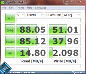 OCZ Throttle 32GB eSATA CrystalMark