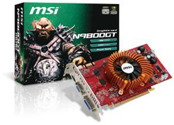 MSI's new N9800GT series cards are green and save up to 25% energy