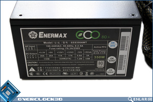 Enermax ECO80+ 350w Side