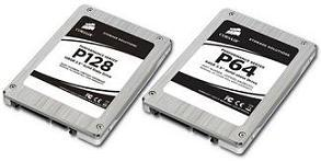The P128 and P64 high-performance SSDs from Corsair