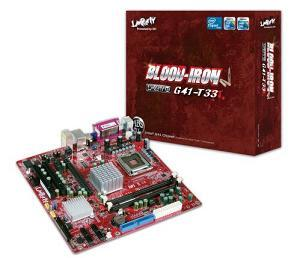 The new Blood Iron LanParty BI G41-T33 motherboard from DFI