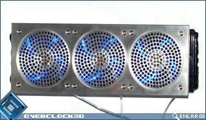 MNPCTech Aluminium Radiator Grill Powered On