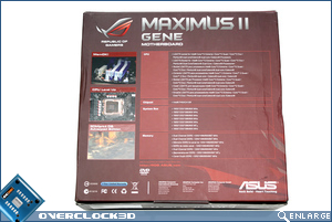 ASUS Maximus II Gene Box Back
