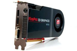 The ultra high-end ATI FirePro V8750 3D card from AMD
