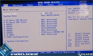Bios - Main Settings
