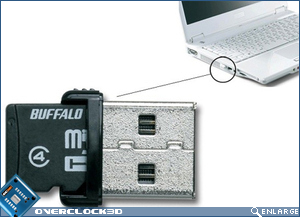 Buffalo's tiny USB drive with SD Card reader