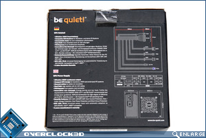 be quiet SFX Power 350w box back